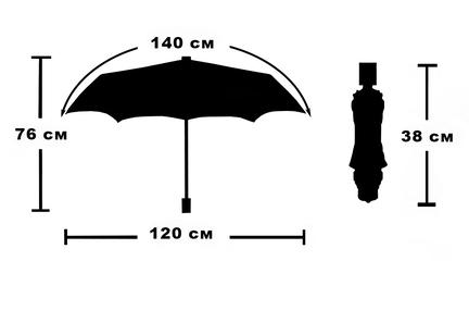 Мужской зонт Parachase ( полный автомат ) арт. K1-03