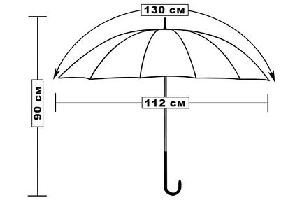 Мужской зонт Три Слона ( полуавтомат ) арт. 1610