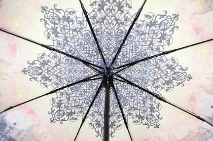 Женский зонт Три Слона ( полуавтомат ) арт. L3881-06