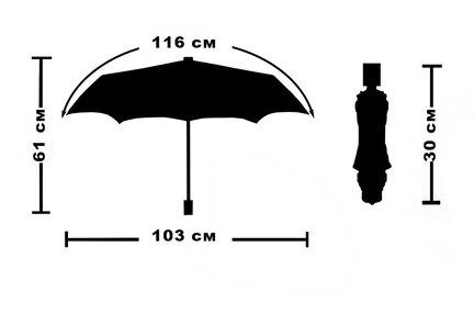 Женский зонт Три Слона ( полный автомат ) арт. L3812-03