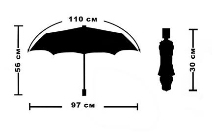 Женский зонт Три Слона ( полуавтомат ) арт. L3882-07