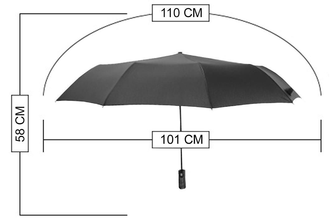 размеры мужского зонта Parachase арт. 3246-02 фото